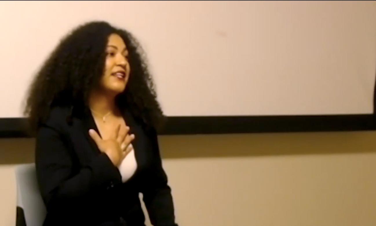 Karen Diaz guest lecturing
