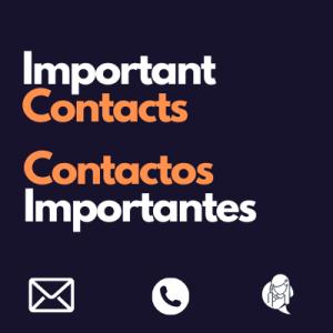 Important Contacts Contactos Importantes