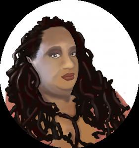 Illustrated portrait of Imani Barbarin