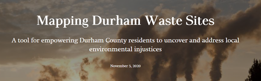 Link to Mapping Durham Waste Sites: