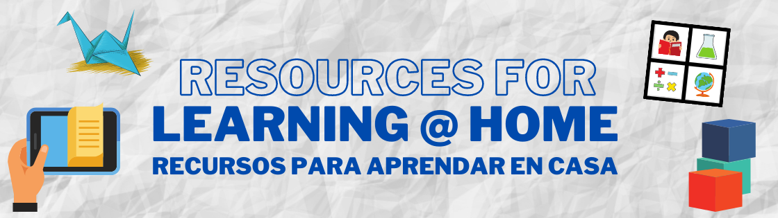 Resources for Learning at Home Banner